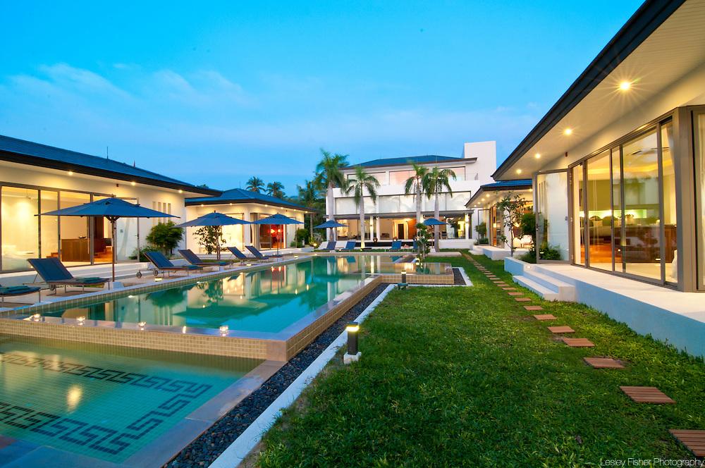 Swimming Pool and garden view of Baan Asan, Baan Taling Ngam, Koh Samui, Thailand