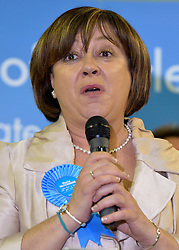 © Licensed to London News Pictures. 01/03/2013. Eastleigh, UK Conservative Candidate MARIA HUTCHINGS makes her loosing speech. Ballot boxes begin to arrive at the count centre at  Fleming Park Leisure Centre in Eastleigh this evening. The voters of Eastleigh vote to choose a new MP in a by-election prompted by the resignation of former Lib Dem cabinet minister Chris Huhne. Polling will continued 22:00 GMT 28/02/13, with votes counted overnight on Thursday. There are 14 candidates in total on the ballot papers.. Photo credit : Stephen Simpson/LNP