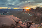Sunset from Green River overlook, Canyonlands National Park, Utah