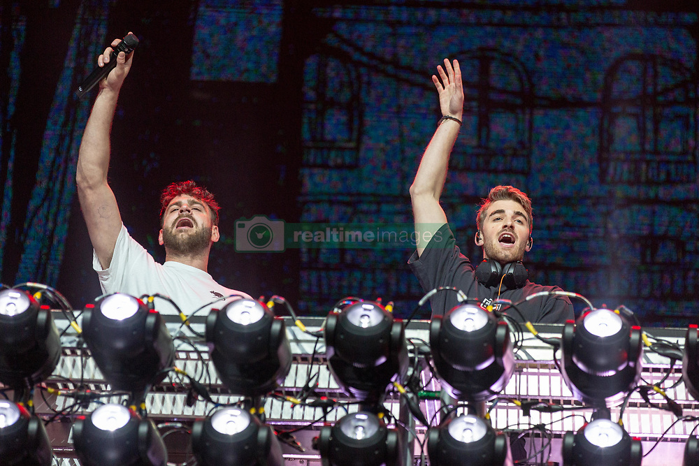 May 25, 2018 - Napa, California, U.S - ALEX PALL and ANDREW TAGGART of The Chainsmokers during BottleRock Music Festival at Napa Valley Expo in Napa, California (Credit Image: © Daniel DeSlover via ZUMA Wire)