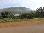 The view from the vehicle on a early morning start, on a story gathering trip with Mile 91 in Uganda.