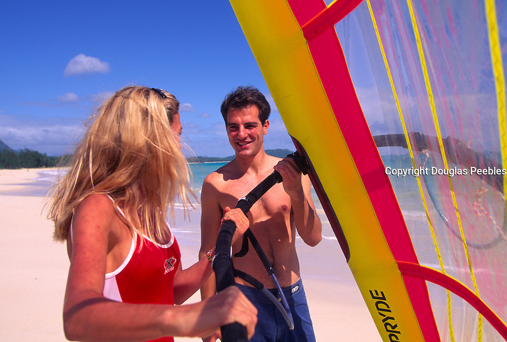 Windsurfing, Kailua, Oahu, Hawaii<br />