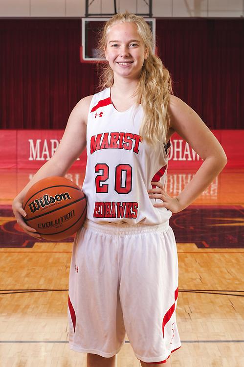 Marist High School 2015 Girls Basketball Sports Photography. Chicago, IL. Chris W. Pestel Chicago Sports Photographer.