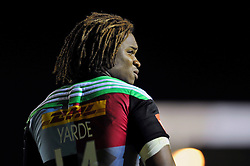 Marland Yarde of Harlequins looks on - Photo mandatory by-line: Patrick Khachfe/JMP - Mobile: 07966 386802 12/09/2014 - SPORT - RUGBY UNION - London - Twickenham Stoop - Harlequins v Saracens - Aviva Premiership