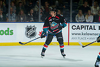 KELOWNA, CANADA - SEPTEMBER 22: Lassi Thomson #2 of the Kelowna Rockets skates against the Kamloops Blazers  on September 22, 2018 at Prospera Place in Kelowna, British Columbia, Canada.  (Photo by Marissa Baecker/Shoot the Breeze)  *** Local Caption ***