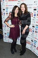 Savanna Stevenson and Willemijn Verkaik, WhatsOnStage Awards Nominations - launch party, Cafe De Paris, London UK, 06 December 2013, Photo by Raimondas Kazenas