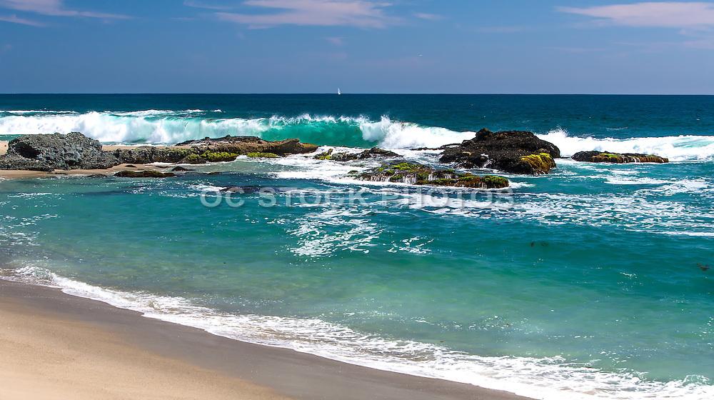 Waves Crashing at Table Rock in Laguna Beach