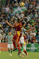 Corcoles (L) and Chuli (R) during the match between Real Betis and Recreativo de Huelva day 10 of the spanish Adelante League 2014-2015 014-2015 played at the Benito Villamarin stadium of Seville. (PHOTO: CARLOS BOUZA / BOUZA PRESS / ALTER PHOTOS)