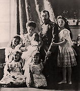 Family of Tsar Nicholas II of Russia photographed in 1904-05