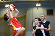 UK - Tuesday, Nov 18 2008:  Erks' Estonian guard, Ants Rouhijainen drives to the basket during Barking and Dagenham Erkenwald Basketball Club's Essex Basketball League game against Brightlingsea Sledgehammers. Erks won the game 91 - 86. (Photo by Peter Horrell / http://www.peterhorrell.com)