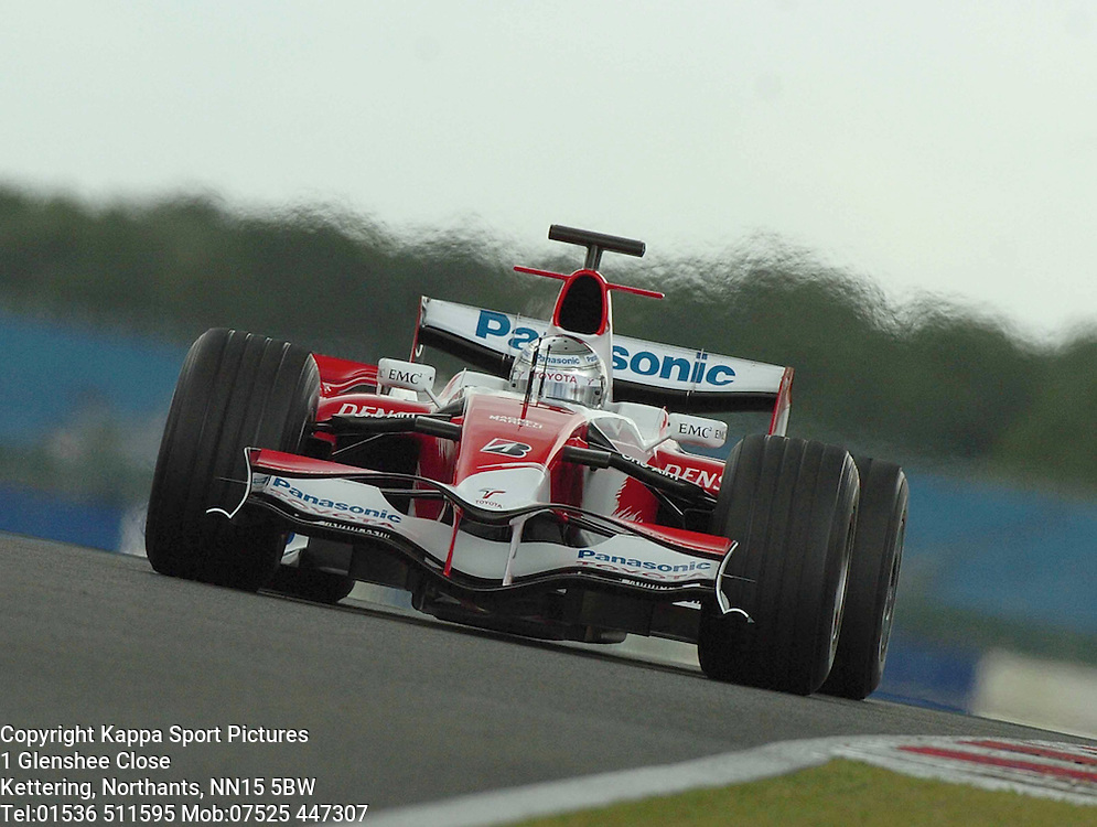 JARNO TRULLI Panasonic Toyota,  F1 Formula One Test Silverstone 19th June 2007 :Photo Mike Capps