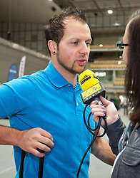16.10.2010, Olympia Eisstadion, Innsbruck, AUT, OeSV Einkleidung 2010, im Bild Mario Scheiber Interview mit Live Radio, EXPA Pictures © 2010, PhotoCredit: EXPA/ J. Groder