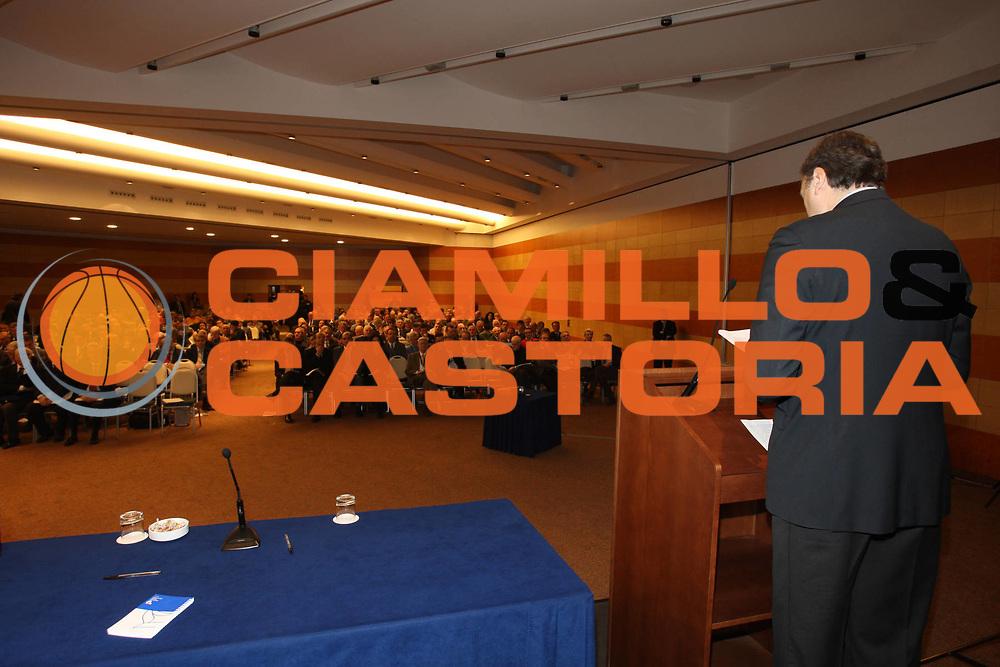 DESCRIZIONE : Roma Hotel Ergife 41&deg; Assemblea Generale Ordinaria Federazione Italiana Pallacanestro FIP<br /> GIOCATORE : Dino Meneghin Assemblea<br /> SQUADRA : FIP<br /> EVENTO : Roma Hotel Ergife 41&deg; Assemblea Generale Ordinaria Federazione Italiana Pallacanestro FIP<br /> DATA : 07/02/2009<br /> CATEGORIA : neo eletti ritratto Presidente<br /> SPORT : Pallacanestro<br /> AUTORE : Agenzia Ciamillo-Castoria/G.Ciamillo<br /> Galleria : Fip Nazionali 2009<br /> Fotonotizia : Roma Hotel Ergife 41&deg; Assemblea Generale Ordinaria Federazione Italiana Pallacanestro FIP<br /> Predefinita :