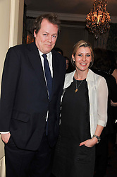 TOM & SARA PARKER BOWLES at a party hosted by Justine Picardie, Editor-in-Chief of Harper's Bazaar UK and Glenda Bailey, Editor-in-Chief of Harper's Bazaar US to celebrate the end of London Fashion Week and the biggest-ever March issues of Harper's Bazaar, held at Mark's Club, Charles Street, London on 19th February 2013.