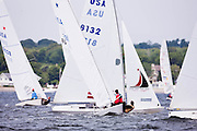 Star Class sailing in the Bacardi Newport Sailing Week regatta, day 2.