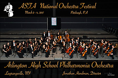 2017 ASTA National Orchestra Festival performing groups