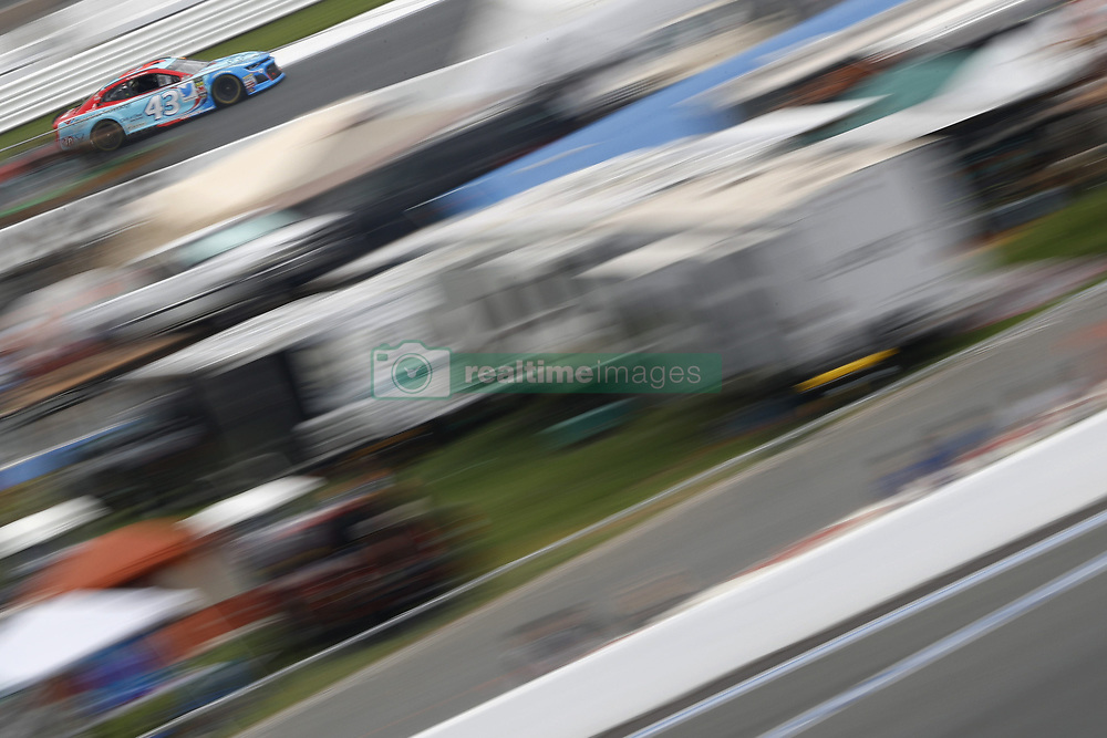 September 30, 2018 - Concord, North Carolina, United States of America - Darrell Wallace, Jr (43) races during the Bank of America ROVAL 400 at Charlotte Motor Speedway in Concord, North Carolina. (Credit Image: © Chris Owens Asp Inc/ASP via ZUMA Wire)