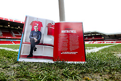 A general view of The City Ground, home to Nottingham Forest, with Nottingham Forest manager Martin O'Neill's first programme notes - Mandatory by-line: Robbie Stephenson/JMP - 19/01/2019 - FOOTBALL - The City Ground - Nottingham, England - Nottingham Forest v Bristol City - Sky Bet Championship