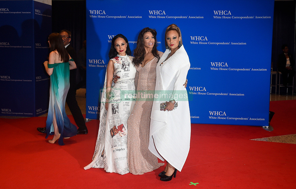 (L-R) Nina Radcliff, Angela McGlowan and Santita Jackson arrive for the White House Correspondents' Association (WHCA) dinner in Washington, D.C., on Saturday, April 29, 2017 (Photo by Riccardo Savi)  *** Please Use Credit from Credit Field ***