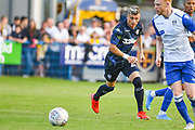 Leeds United midfielder Ezgjan Alioski (10) in action during the Pre-Season Friendly match between Guiseley  and Leeds United at Nethermoor Park, Guiseley, United Kingdom on 11 July 2019.