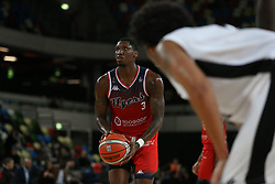 Fred Thomas of Bristol Flyers prepares to take a free throw - Photo mandatory by-line: Arron Gent/JMP - 20/11/2019 - BASKETBALL - Copper Box Arena - London, England - London Lions v Bristol Flyers - British Basketball League Cup