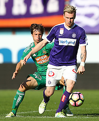 07.08.2016, Ernst Happel Stadion, Wien, AUT, 1. FBL, FK Austria Wien vs SK Rapid Wien, 3. Runde, im Bild Ivan Mocinic (SK Rapid Wien) und Kevin Friesenbichler (FK Austria Wien) // during Austrian Football Bundesliga Match, 3rd Round, between FK Austria Vienna and SK Rapid Vienna at the Ernst Happel Stadion, Vienna, Austria on 2016/08/07. EXPA Pictures © 2016, PhotoCredit: EXPA/ Thomas Haumer