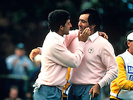 Seve Ballesteros and Jose maria Olazabal / THE BELFRY. UK / PHOTO MARK NEWCOMBE / RYDER CUP 1989 Matches