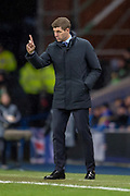 Rangers manager Steven Gerrard during the Europa League group stage match between Rangers FC and Villareal CF at Ibrox, Glasgow, Scotland on 29 November 2018.