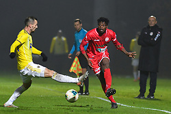 Jasmin Mešanović of Maribor and Stanley Amuzie of Aluminij during football match between NK Aluminij and NK Maribor in 18th Round of Prva liga Telekom Slovenije 2019/20, on November 24, 2019 in Sportni park Aluminij, Kidricevo Slovenia. Photo by Milos Vujinovic / Sportida