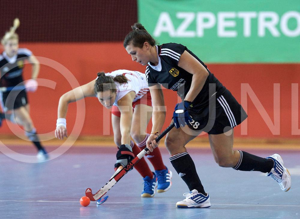 Prague - EuroHockey Indoor Championship (W) 2014<br /> 11 GER v ENG (Pool A)<br /> foto: Julia Moller.<br /> FFU PRESS AGENCY COPYRIGHT FRANK UIJLENBROEK