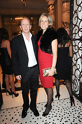 SIMON & SANTA SEBAG-MONTEFIORE at the Liberatum Dinner hosted by Ella Krasner and Pablo Ganguli in honour of Sir V S Naipaul at The Landau at The Langham, Portland Place, London on 23rd November 2010.