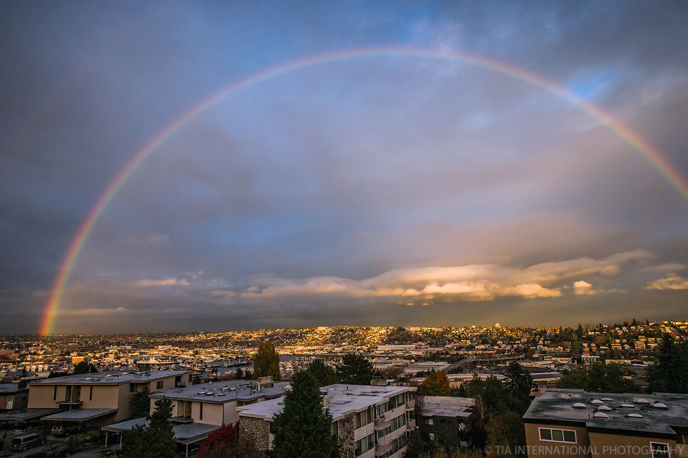 Rainbow above the Emerald City