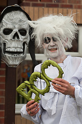 Guinness Northern Counties Housing Associations Godley Street  Scheme Hold a Halloween Street Party Darren Broadhurst..30 October 2010 .Images © Paul David Drabble