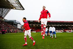 Aden Flint of Bristol City jumps up - Rogan/JMP - 27/01/2018 - Ashton Gate Stadium - Bristol, England - Bristol City v Queens Park Rangers - Sky Bet Championship.