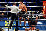 Dave Allen knocks out Dorian Darch in his fight before the Kell Brook vs Mark DeLuca WBO Inter-Continental Super Welterweight fight at the FlyDSA Arena, Sheffield, United Kingdom on 8 February 2020.