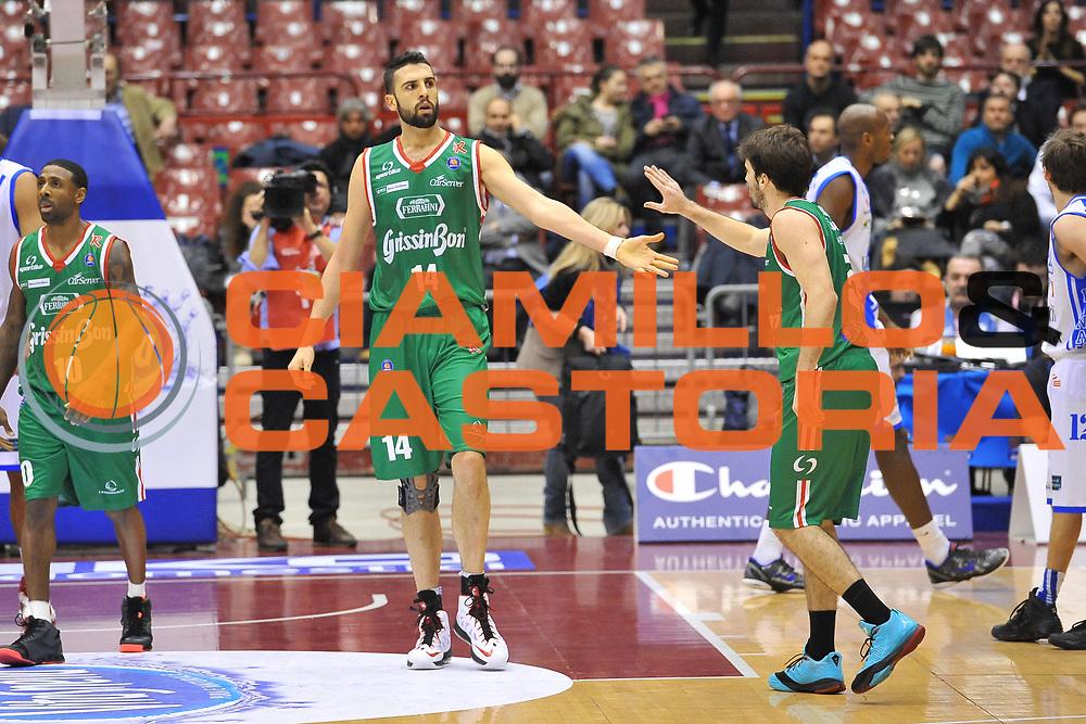 DESCRIZIONE : Milano Final Eight Coppa Italia 2014 Semifinale Dinamo Banco di Sardegna Sassari - Grissin Bon Reggio Emilia<br /> GIOCATORE : Riccardo Cervi<br /> CATEGORIA : Ritratto Esultanza<br /> SQUADRA : Grissin Bon Reggio Emilia<br /> EVENTO : Final Eight Coppa Italia 2014 Milano<br /> GARA : Dinamo Banco di Sardegna Sassari - Grissin Bon Reggio Emilia<br /> DATA : 08/02/2014<br /> SPORT : Pallacanestro <br /> AUTORE : Agenzia Ciamillo-Castoria / Luigi Canu<br /> Galleria : Final Eight Coppa Italia 2014 Milano<br /> Fotonotizia : Milano Final Eight Coppa Italia 2014 Semifinale Dinamo Banco di Sardegna Sassari - Grissin Bon Reggio Emilia<br /> Predefinita :