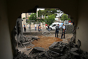 Fajar rockets hit the northern Israeli city of Acres seriously injuring 1 person on Sunday July 23rd 2006..