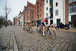 Christine Majerus (LUX) leads the break at Healthy Ageing Tour 2018 - Stage 5, a 94.3 km road race in Groningen on April 8, 2018. Photo by Sean Robinson/Velofocus.com