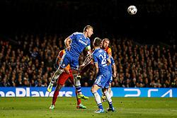 Chelsea Defender John Terry (ENG) heads the ball - Photo mandatory by-line: Rogan Thomson/JMP - 18/03/2014 - SPORT - FOOTBALL - Stamford Bridge, London - Chelsea v Galatasaray - UEFA Champions League Round of 16 Second leg.