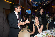 ADITYA MITTAL; NATHALIE ESFANDI, Chickenshed Kensington and Chelsea's Summer Show and Dinner, The Hurlingham club. London. 9 May 2013