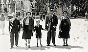 family walking with David stars in the background France 1930s