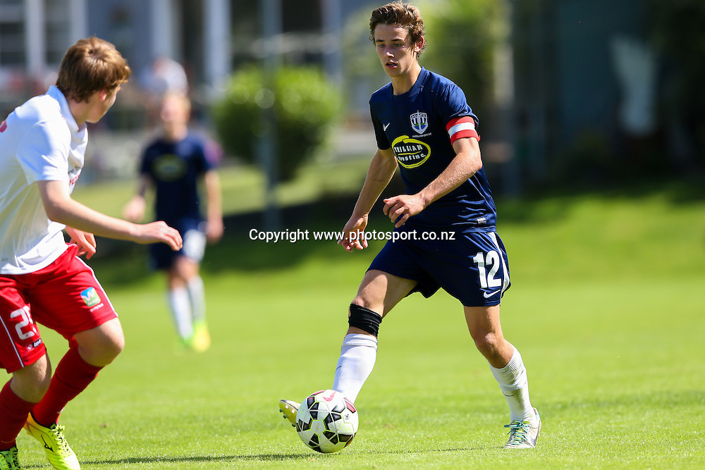 Auckland City's Ross McPhie. ASB Youth League, Auckland City v Waitakere United, Kiwitea Street, Auckland, Sunday 21st November 2014. Photo: David Joseph / www.photosport.co.nz