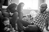 At Home Family Portrait and Pet Photography