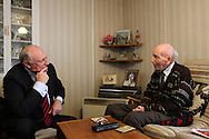 Eddie has a great sense of humour and is very chatty. When Lord Neil Kinnock came to visit the Excalibur Estate in February 2013, they both had a lovely prefabs conversation exchanging memories as Lord Kinnock grew up in a prefab in South Wales.