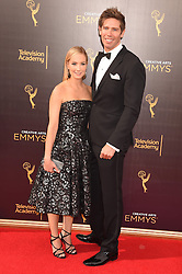 Joanne Froggatt, James Cannon bei der Ankunft zur Verleihung der Creative Arts Emmy Awards in Los Angeles / 110916 <br /> <br /> *** Arrivals at the Creative Arts Emmy Awards in Los Angeles, September 11, 2016 ***