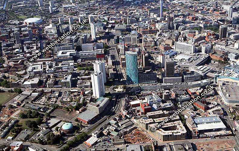 aerial photograph of Birmingham England UK