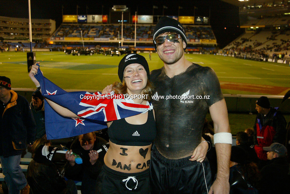 16 August 2003, International Rugby Union, Bledisloe Cup, New Zealand vs Australia, Eden Park, Auckland, New Zealand.<br />