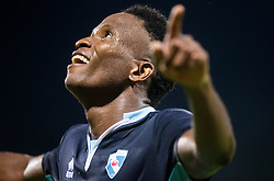 Bede Aamarachi Osuji of Gorica celebrates after scoring 2nd goal for Gorica during 2nd Leg football match between ND Gorica and FC Shirak in 1st Qualifying Round of UEFA Europa League 2017/18, on July 6, 2017 in Nova Gorica, Slovenia. Photo by Vid Ponikvar / Sportida