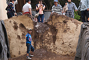The mound-obstacle  at the end of the day at the annual Tado Horse Festival.