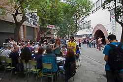 &copy; Licensed to London News Pictures. 26/04/2016. BARCELONA, SPAIN.  <br /> Families and friends occupy the CEIP Josep Maria Jujol school that will be used as polling  stations for the independence referendum that is set to take place on Sunday 1st October 2017. The government have told the police to close down the schools at 0600 hours on the 1st October.  The Spanish government have deemed the referendum illegal and against the constitution of Spain.<br /> Photo credit: RICH BOWEN/ LNP